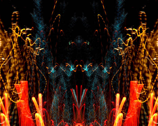 Abstract Poster featuring the photograph Light Fantastic 12 by Natalie Kinnear