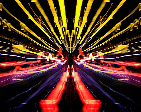 Abstract Poster featuring the photograph Light Fantastic 15 by Natalie Kinnear