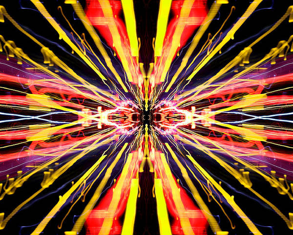 Abstract Poster featuring the photograph Light Fantastic 22 by Natalie Kinnear