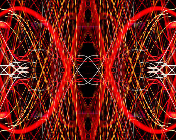 Abstract Poster featuring the photograph Light Fantastic 25 by Natalie Kinnear