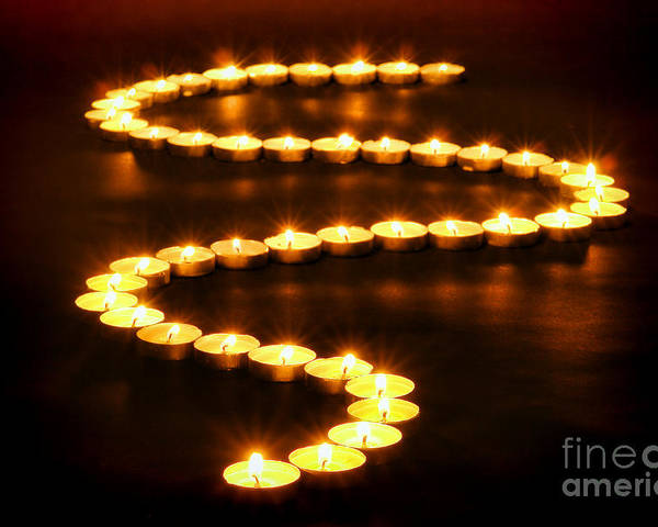 Candles Poster featuring the photograph Light Path by Olivier Le Queinec