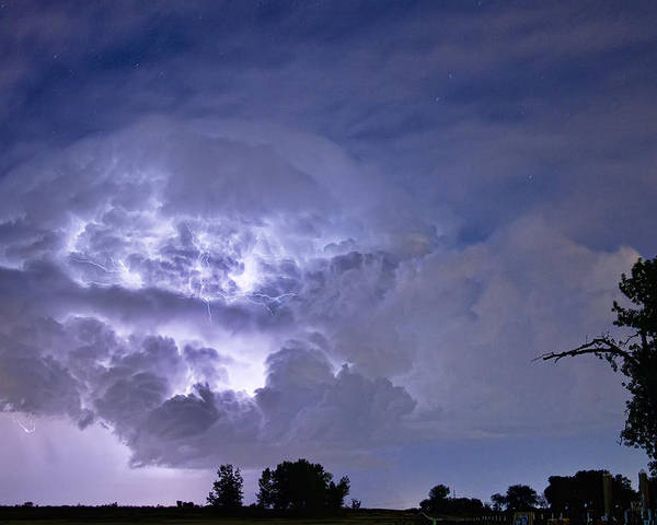 Lightning Poster featuring the photograph Light Show by James BO Insogna