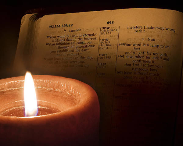Bible Poster featuring the photograph Light To My Path by Andrew Soundarajan