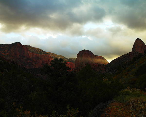 Kalob Canyon Poster featuring the photograph Like A Ray Of Hope In The Mountains by Jeff Swan