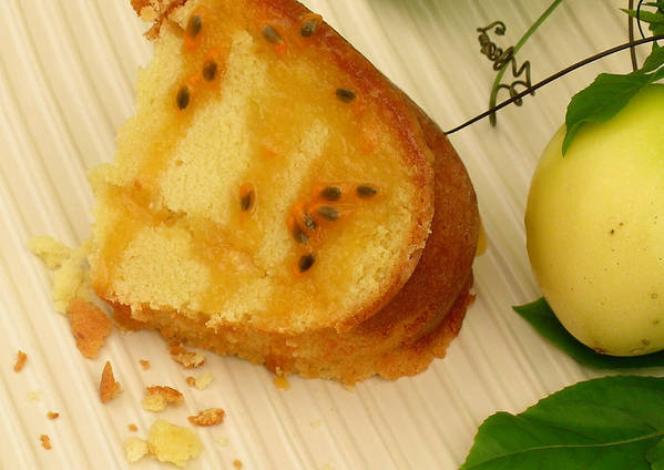 Food Art Poster featuring the photograph Lilikoi Lime Pound Cake by James Temple