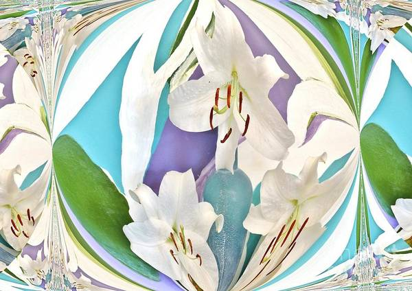 Photo Poster featuring the photograph Lily Abstract by Marsha Heiken