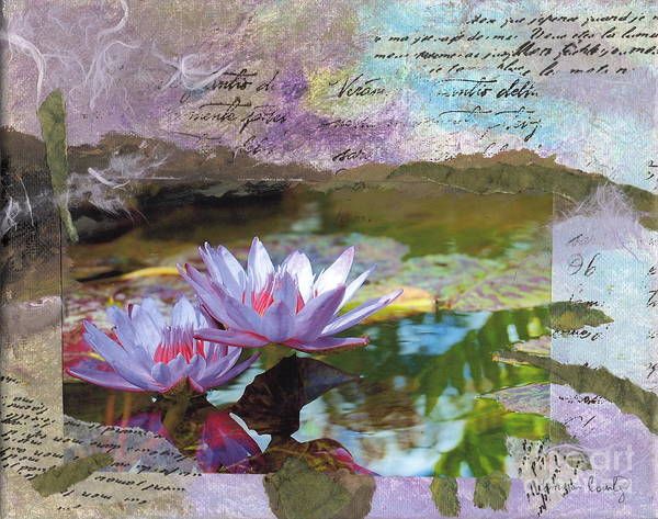 Lily Poster featuring the painting Lily Pad Sisters by Tamyra Crossley