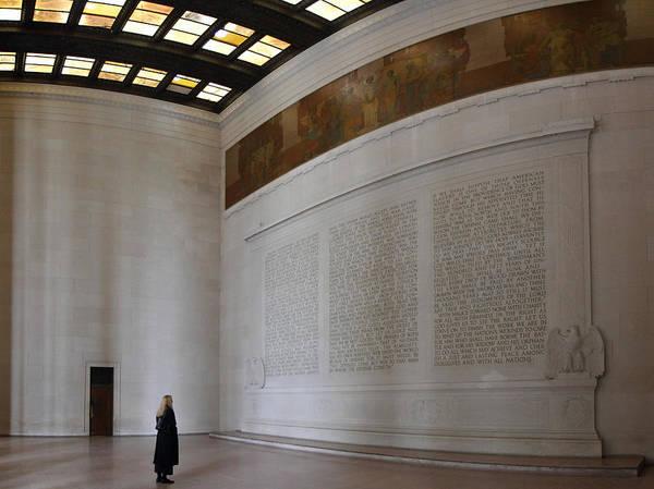 Washington Poster featuring the photograph Lincoln Memorial - Washington Dc - 01132 by DC Photographer