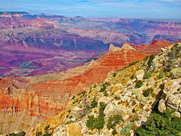 Lipan Point View On East Side Of South Rim Of Grand Canyon Poster featuring the photograph Lipan Point View On East Side Of South Rim Of Grand Canyon-arizona  by Ruth Hager