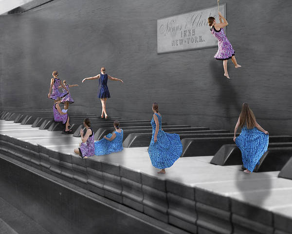 Piano Poster featuring the digital art Little Composers I by Betsy Knapp