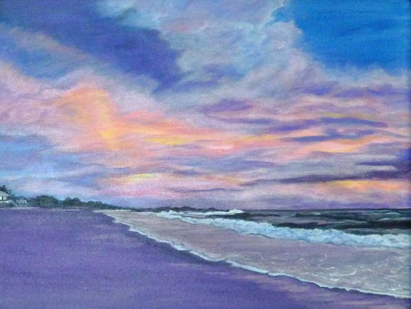 Little Gasparilla Island Poster featuring the painting Little Gasparilla Island Sunset by Nancy Nuce