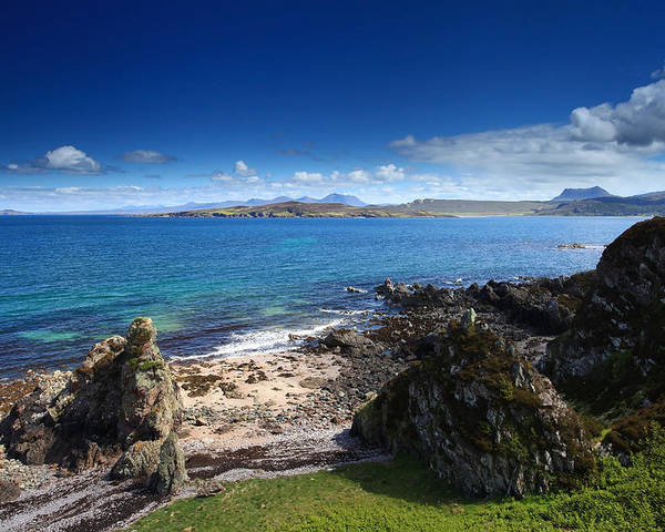 Scotland Poster featuring the photograph Little Gruinard Bay In The Scottish Highlands by Ollie Taylor