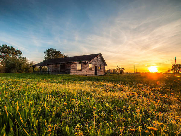 Landscapes Poster featuring the photograph Little House On The Prairie by Davorin Mance