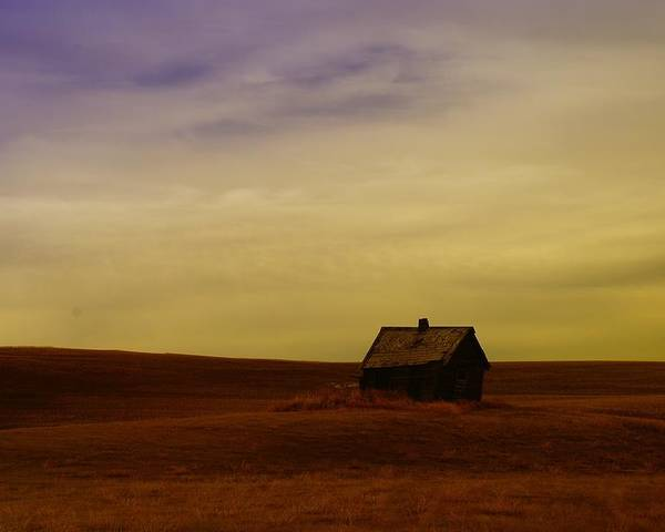 House Poster featuring the photograph Little House On The Prairie by Jeff Swan