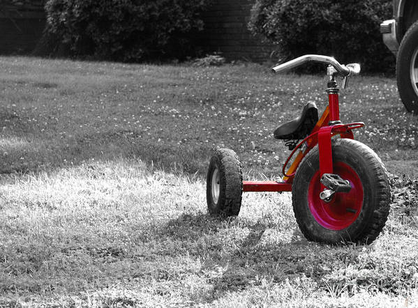 Tricycyle Poster featuring the photograph Little Red Trike by Jai Johnson