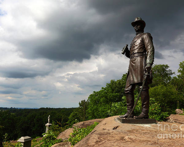 Gettysburg Poster featuring the photograph Little Round Top Hill Gettysburg by James Brunker