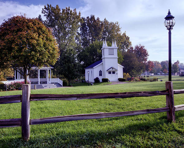 Immanuel Lutheran Church Poster featuring the photograph Little Village Chapel Of The Immanuel Lutheran Church by Paul Cannon