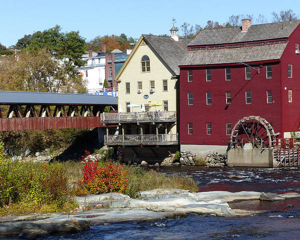 Horizontal Poster featuring the photograph Littleton Gristmill by Jim Wallace
