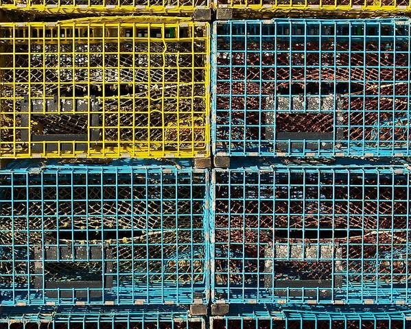 Lobster Traps Poster featuring the photograph Lobster Traps by Stuart Litoff