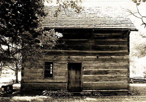 Familyfourphoto Poster featuring the photograph Log Cabin Home by Brenda Donko