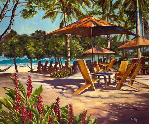 Tropical Poster featuring the painting Lola's In Costa Rica by Christie Michael