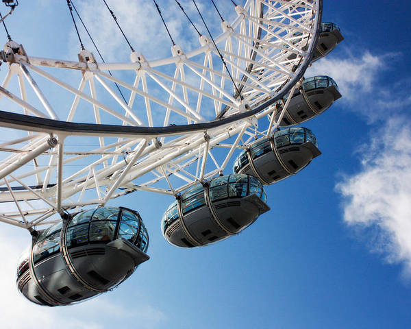 London Eye Poster featuring the photograph London Eye by Javier Loba