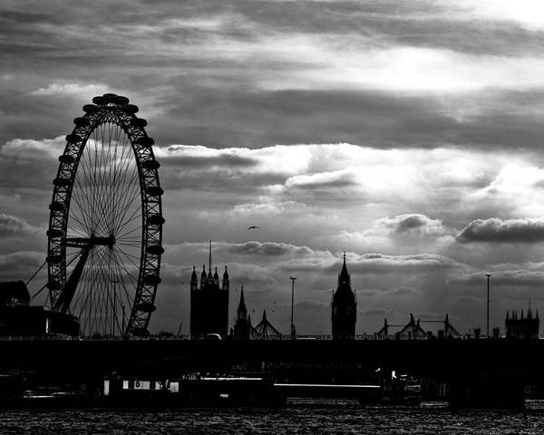London Poster featuring the photograph London Silhouette by Jorge Maia