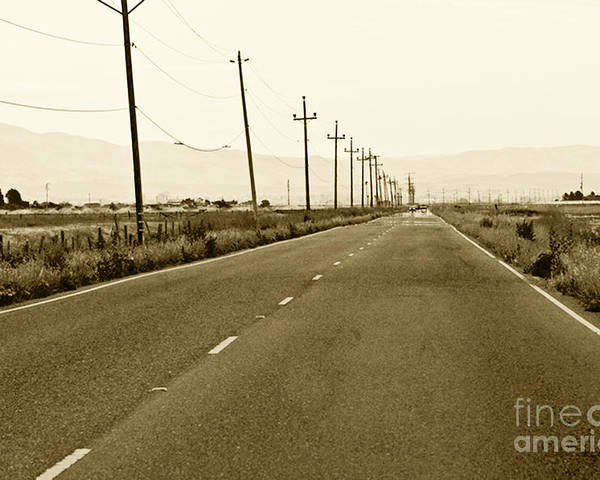 Road Picture Poster featuring the photograph Long Road Home by Artist and Photographer Laura Wrede
