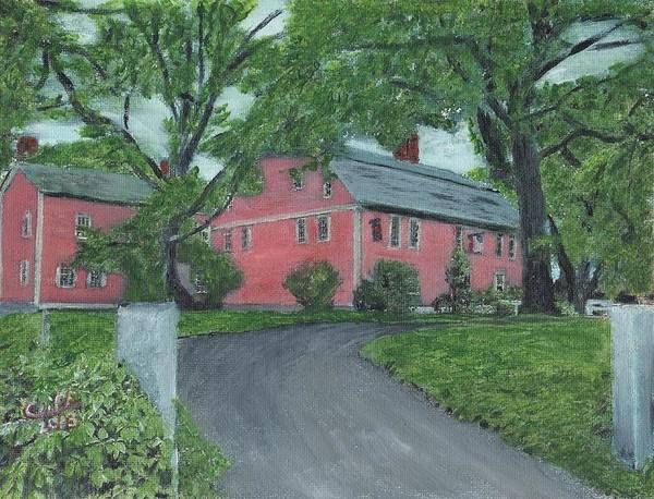Historic Site Poster featuring the painting Longfellow's Wayside Inn by Cliff Wilson