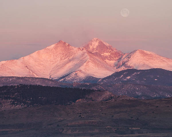 Longs Poster featuring the photograph Longs Peak 4 by Aaron Spong
