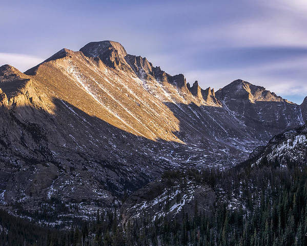 Colorado Poster featuring the photograph Longs Peak Sunset by Aaron Spong