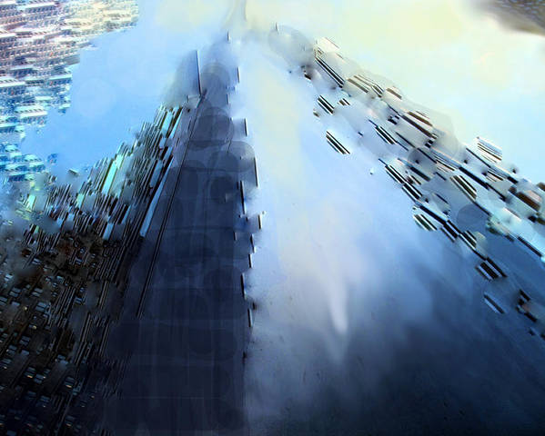 Abstract Poster featuring the digital art Look Up A Way Up by Ian MacDonald