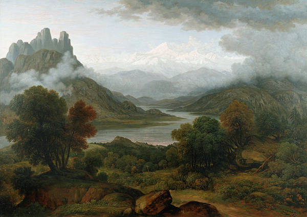 Switzerland Poster featuring the painting Looking Towards The Val Daosta, Bernese by John Glover
