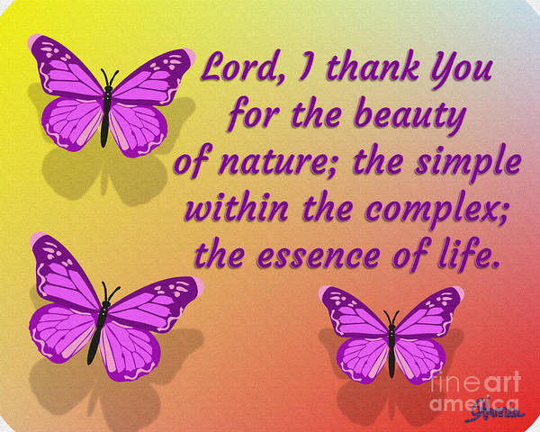 Lord I Thank You For The Beauty Of Nature Poster featuring the digital art Lord I Thank You for the Beauty of Nature by Pharris Art