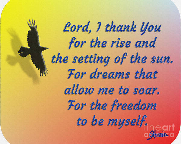 Lord I Thank You For The Freedom Poster featuring the painting Lord I Thank You for the Freedom by Pharris Art