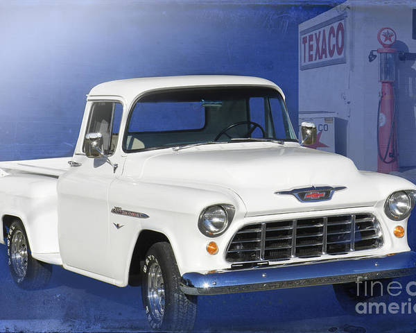 1955 Chevrolet Pickup Poster featuring the photograph Lost In The 50s by Betty LaRue