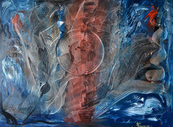 Abstract Poster featuring the painting Lost In The Music by Jason Browning