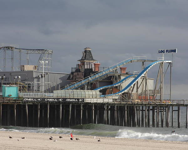Casino Pier Poster featuring the photograph Lost To Sandy by Laura Wroblewski