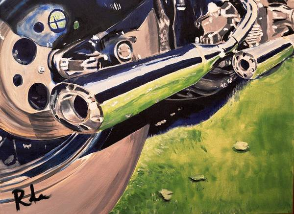 Reflective Pipes Poster featuring the painting Loud Ride by Ruben Barbosa