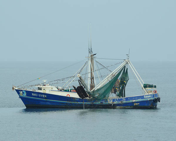 Shrimp Poster featuring the photograph Louisiana Shrimp Trawler by Bradford Martin