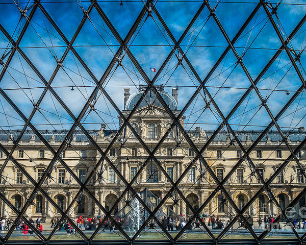 Louvre Poster featuring the photograph Louvre Museum In Paris by Sabino Parente