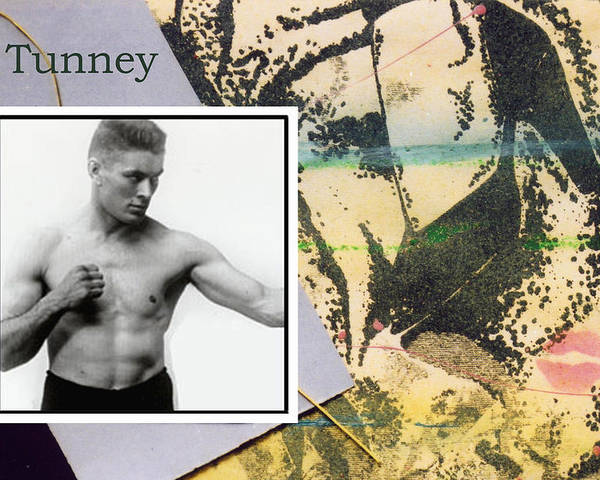 Boxers Poster featuring the photograph Love And War Tunney by Mary Ann Leitch