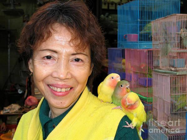 Hong Kong Poster featuring the digital art Love Birds by Eva Kaufman