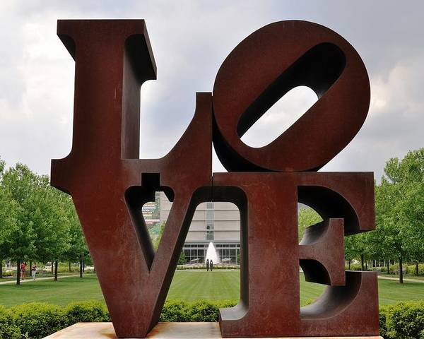 Indianapolis Art Muesum Poster featuring the photograph Love by Pamela Schreckengost