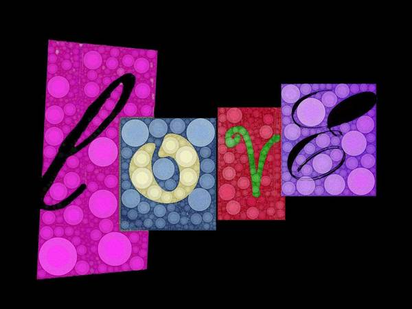Love Poster featuring the digital art Love You by Cindy Edwards