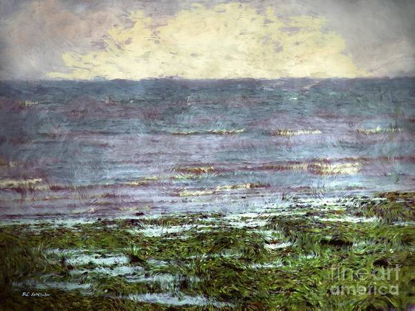Ocean Poster featuring the painting Low Tide At Sunrise by RC DeWinter