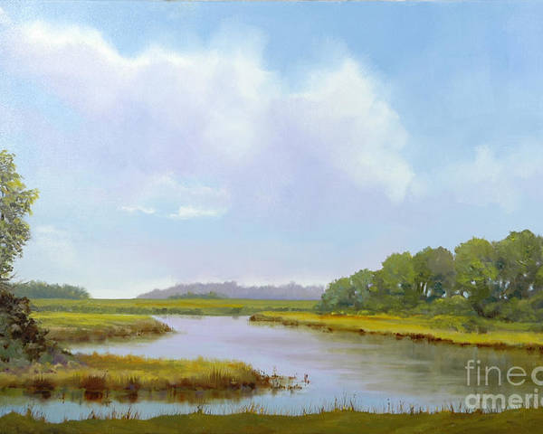 St. Simons Poster featuring the painting Lowcountry Afternoon by Glenn Secrest