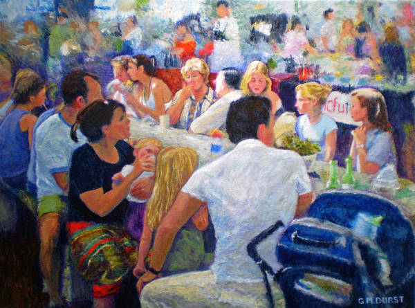 Family Poster featuring the painting Lunch At The O.b.m. by Michael Durst