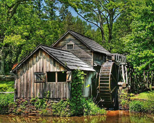 Mabry Mill Poster featuring the photograph Mabry Mill by Heather Allen