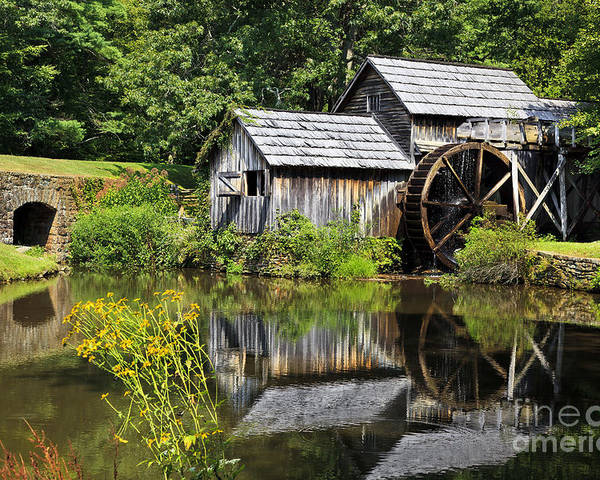 Maybry Mill Poster featuring the photograph Mabry Mill In Virginia by Jill Lang